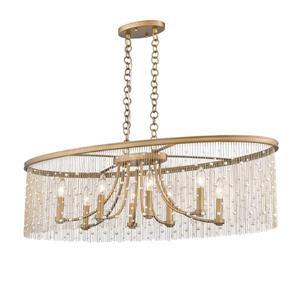 Golden Lighting Marily Linear Pendant Light - Peruvian Gold