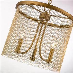 Golden Lighting Marilyn 3-Light Pendant Light - Peruvian Gold
