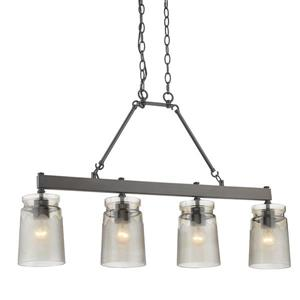Golden Lighting Travers Linear Pendant Light - Rubbed Bronze