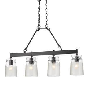 Golden Lighting Travers Linear Pendant Light - Black
