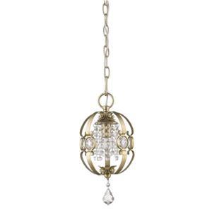 Golden Lighting Ella Mini Pendant Light - White Gold