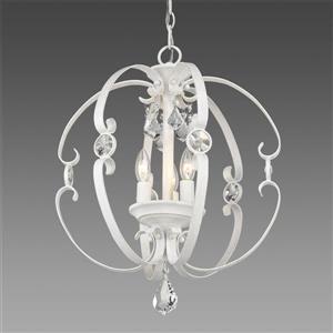Golden Lighting Ella 3-Light Pendant Light - French White