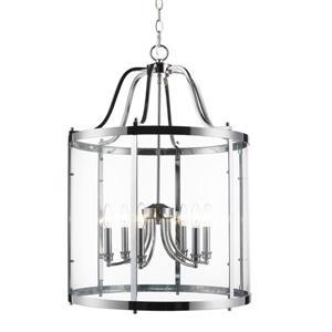 Golden Lighting Payton 6-Light Pendant Light with Clear Glass - Chrome