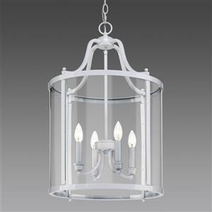 Golden Lighting Payton 4-Light Pendant Light with Clear Glass - White