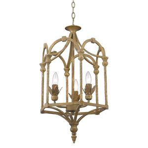 Golden Lighting Medici 3-Light Pendant Light - Burnished Chestnut