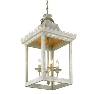 Golden Lighting Finley 4-Light Pendant Light - Vintage Sage