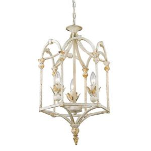 Golden Lighting Medici 1-Light Pendant Light - Antique Ivory