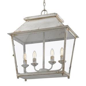 Golden Lighting Abingdon 4-Light Pendant Light - Antique Ivory