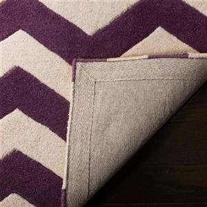 Chatham Chevron Rug - 2.3' x 7' - Wool - Purple