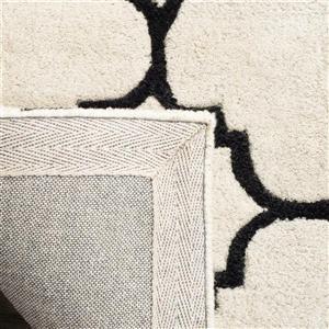 Chatham Geometric Rug - 3' x 5' - Wool - Ivory