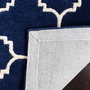 Chatham Geometric Rug - 2.3' x 7' - Wool - Dark Blue