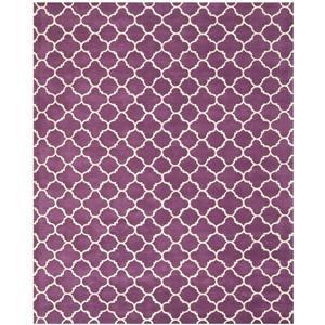 Chatham Geometric Rug - 10' x 14' - Wool - Purple