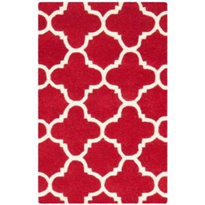 Chatham Geometric Rug - 2' x 3' - Wool - Red