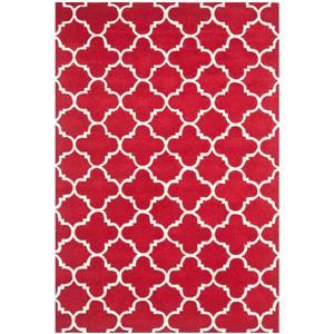Chatham Geometric Rug - 3' x 5' - Wool - Red