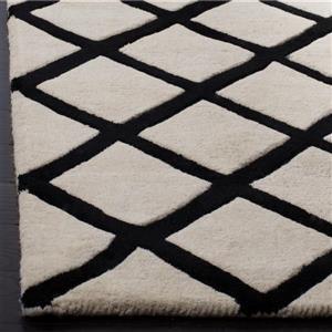 Chatham Geometric Rug - 2.3' x 7' - Wool - Ivory