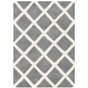 Chatham Geometric Rug - 2' x 3' - Wool - Gray