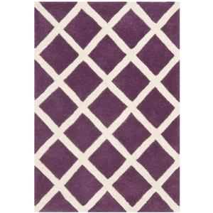 Chatham Geometric Rug - 2' x 3' - Wool - Purple