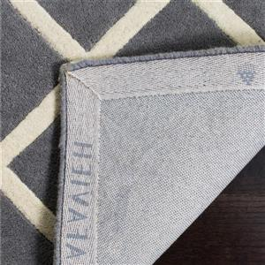 Chatham Geometric Rug - 2.3' x 7' - Wool - Dark Gray