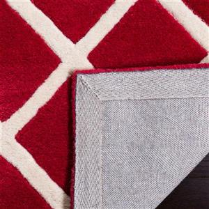 Chatham Geometric Rug - 2.3' x 7' - Wool - Red