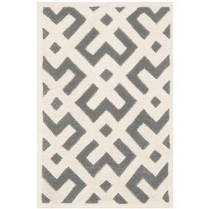 Chatham Geometric Rug - 2' x 3' - Wool - Dark Gray