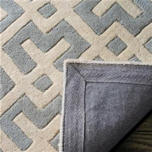 Chatham Geometric Rug - 2' x 3' - Wool - Gray