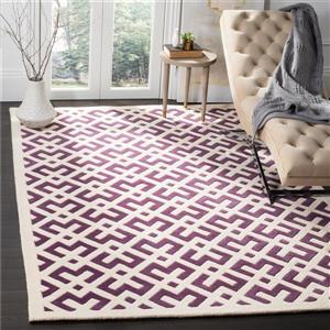 Chatham Geometric Rug - 2' x 3' - Wool - Purple