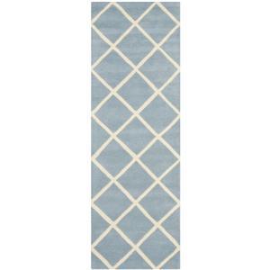 Chatham Geometric Rug - 2.3' x 7' - Wool - Blue