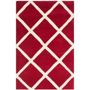 Chatham Geometric Rug - 2' x 3' - Wool - Red