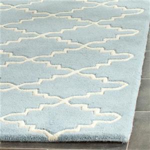 Chatham Trellis Rug - 2.3' x 7' - Wool - Blue