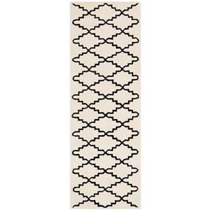 Chatham Trellis Rug - 2.3' x 7' - Wool - Ivory
