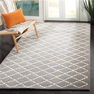 Chatham Trellis Rug - 2' x 3' - Wool - Dark Gray