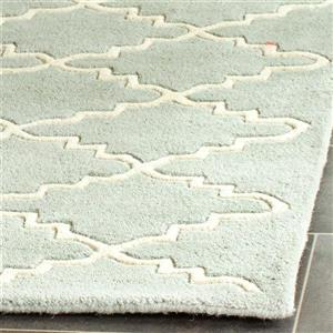 Chatham Trellis Rug - 2' x 3' - Wool - Light Blue