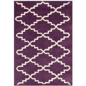Chatham Trellis Rug - 2' x 3' - Wool - Purple