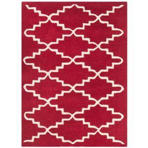 Chatham Trellis Rug - 2' x 3' - Wool - Red