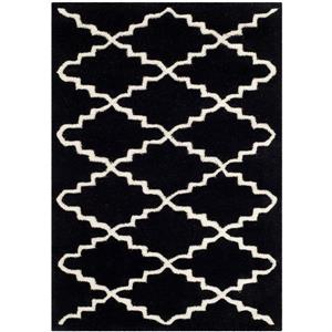 Chatham Trellis Rug - 2' x 3' - Wool - Black