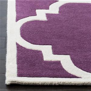 Chatham Trellis Rug - 3' x 5' - Wool - Purple