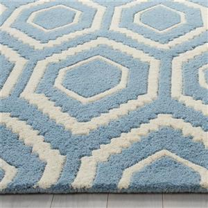 Chatham Geometric Rug - 10' x 14' - Wool - Blue