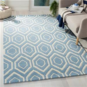 Chatham Geometric Rug - 3' x 5' - Wool - Blue