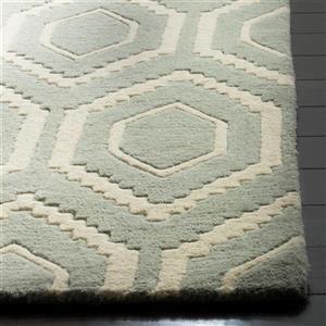 Chatham Geometric Rug - 3' x 5' - Wool - Gray