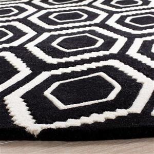 Chatham Geometric Rug - 2' x 3' - Wool - Black