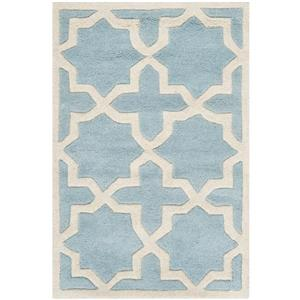 Chatham Geometric Rug - 2' x 3' - Wool - Blue