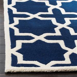 Chatham Geometric Rug - 3' x 5' - Wool - Dark Blue