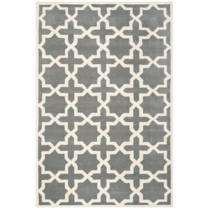 Chatham Geometric Rug - 3' x 5' - Wool - Gray