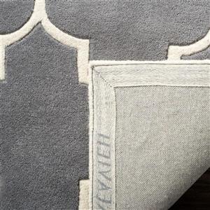 Chatham Trellis Rug - 3' x 5' - Wool - Gray