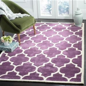 Chatham Trellis Rug - 2' x 3' - Wool - Purple