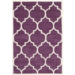 Chatham Trellis Rug - 3' x 5' - Wool - Purple