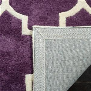 Chatham Trellis Rug - 2.3' x 7' - Wool - Purple