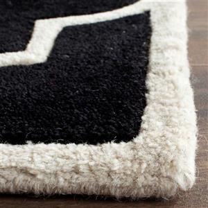 Chatham Trellis Rug - 3' x 5' - Wool - Black
