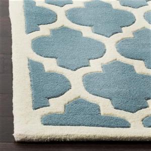 Chatham Trellis Rug - 3' x 5' - Wool - Blue