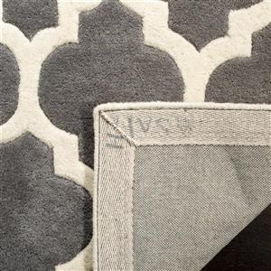 Chatham Trellis Rug - 2.3' x 7' - Wool - Dark Gray